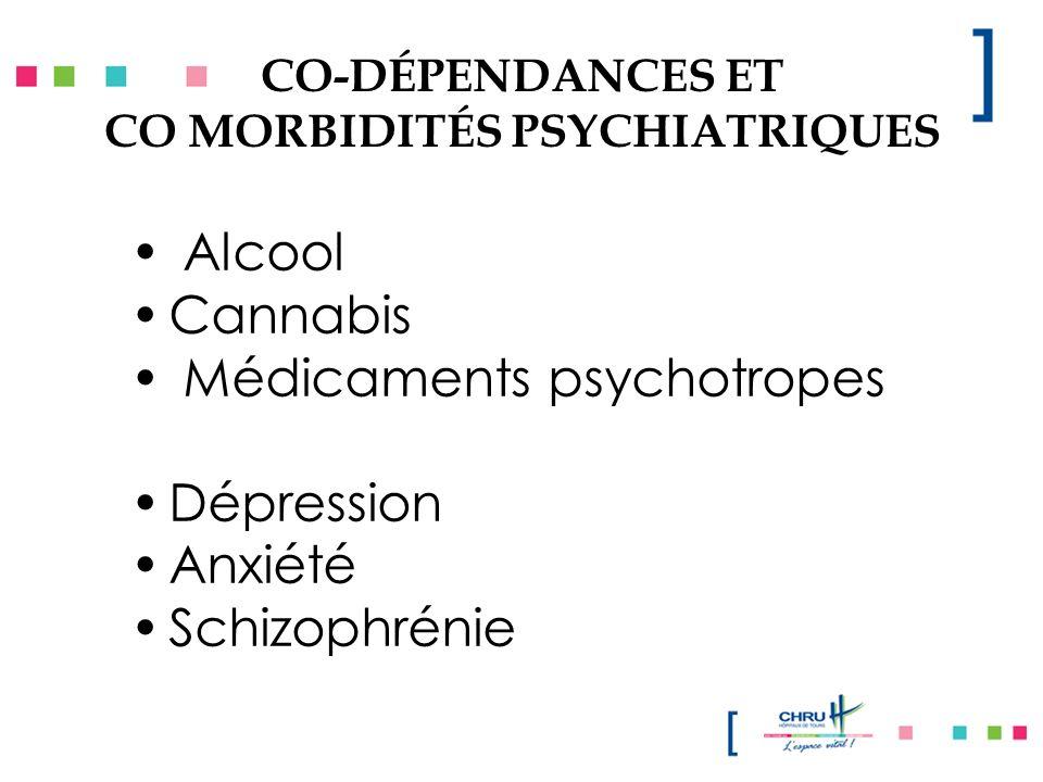 CO-DÉPENDANCES ET CO MORBIDITÉS PSYCHIATRIQUES
