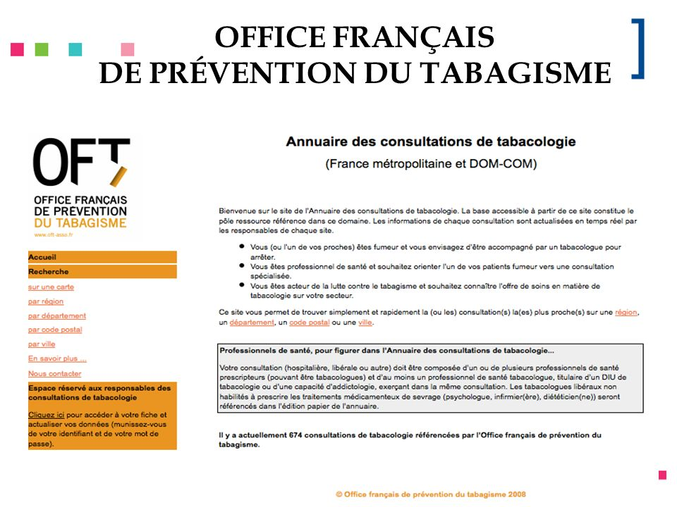 OFFICE FRANÇAIS DE PRÉVENTION DU TABAGISME