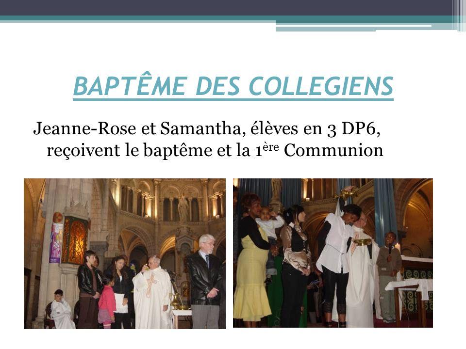 BAPTÊME DES COLLEGIENS