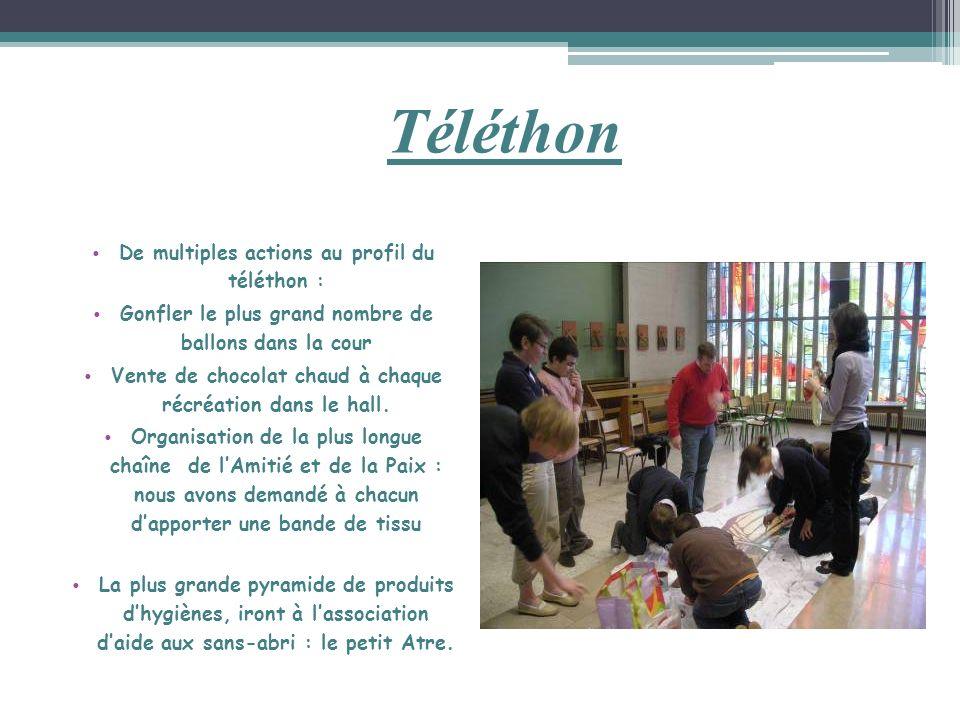 Téléthon De multiples actions au profil du téléthon :