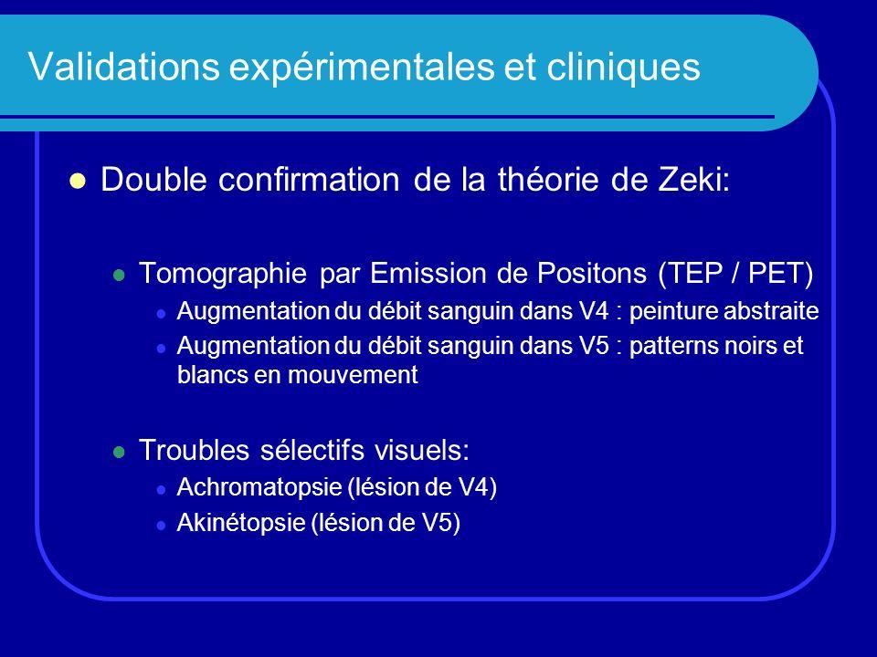 Validations expérimentales et cliniques