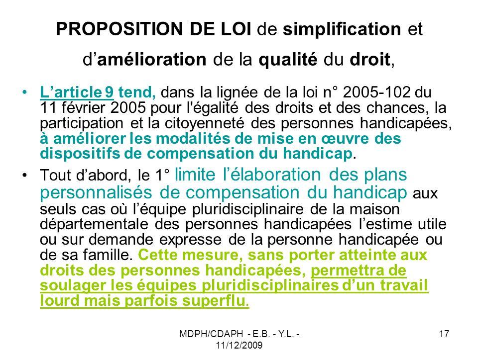 PROPOSITION DE LOI de simplification et d'amélioration de la qualité du droit,
