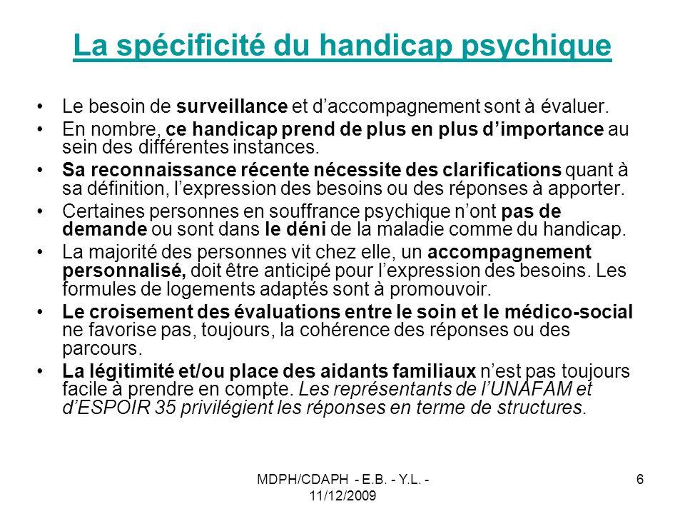 La spécificité du handicap psychique
