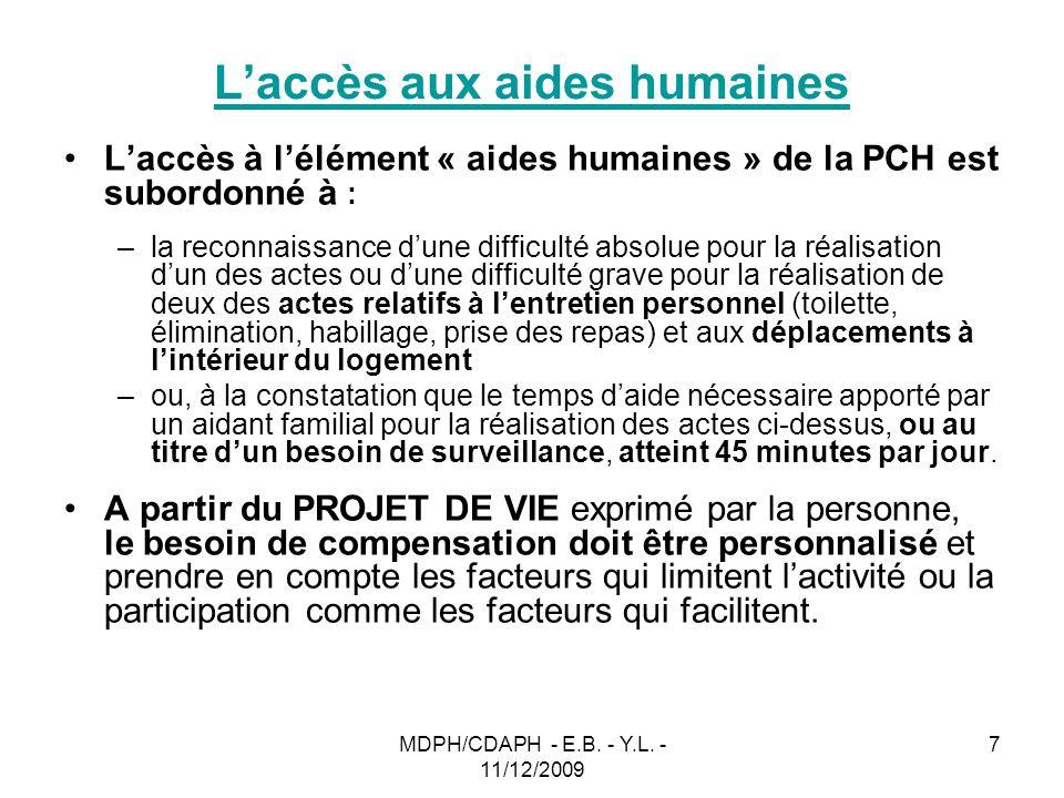 L'accès aux aides humaines