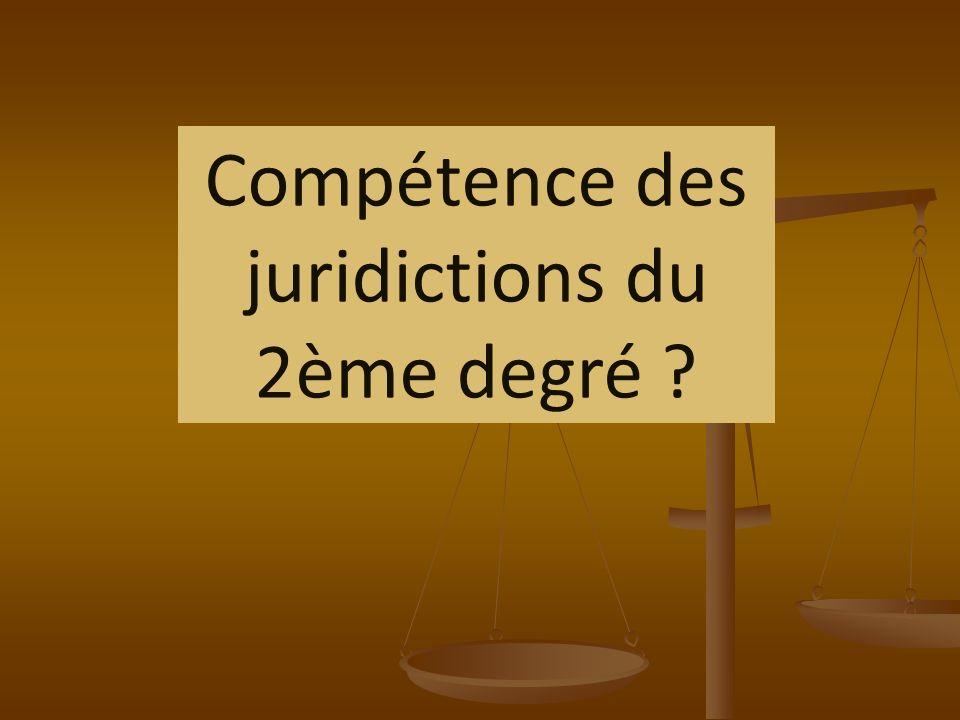 Compétence des juridictions du 2ème degré