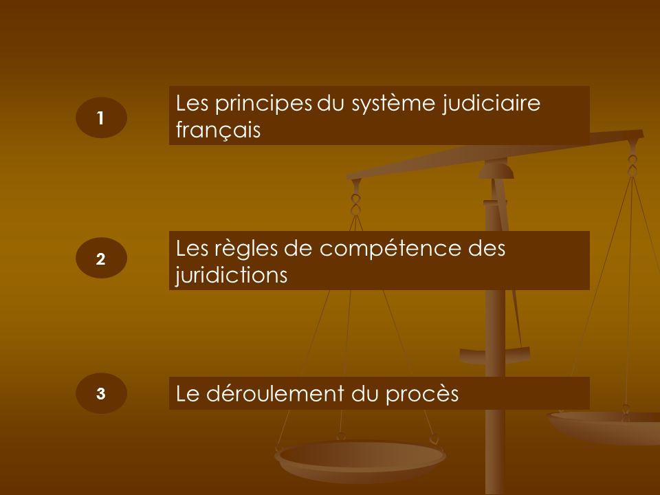 Les principes du système judiciaire français
