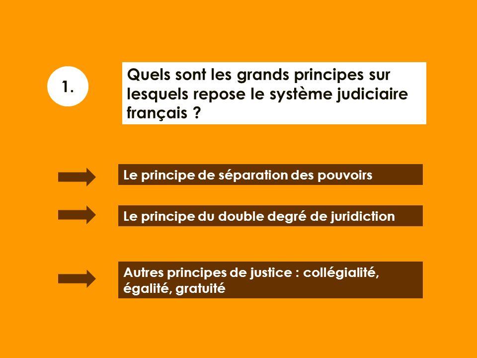 Quels sont les grands principes sur lesquels repose le système judiciaire français