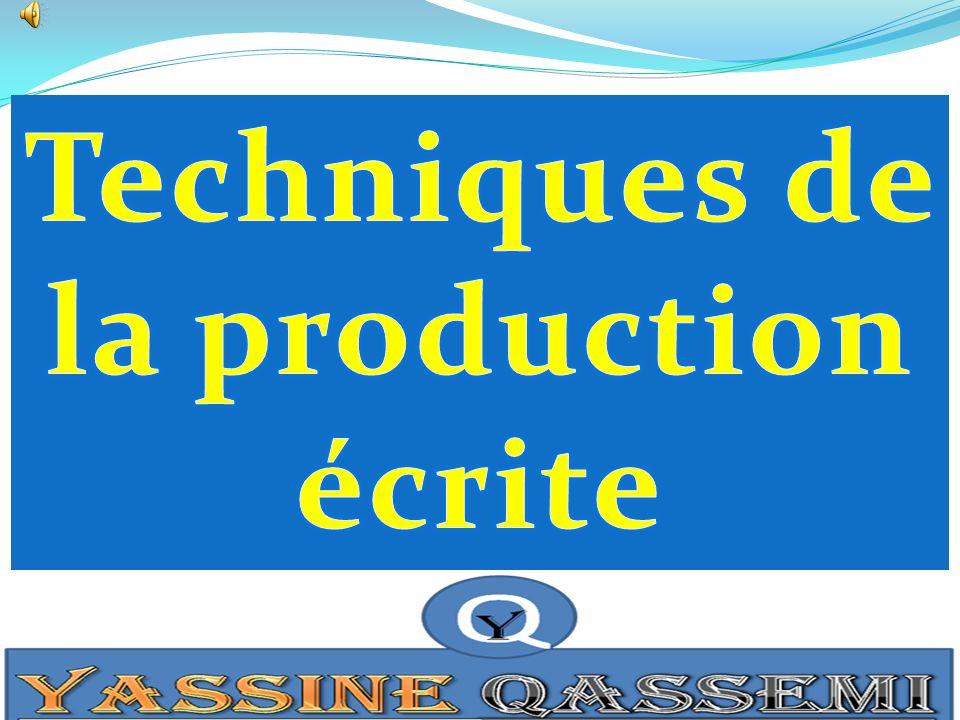 Techniques de la production écrite