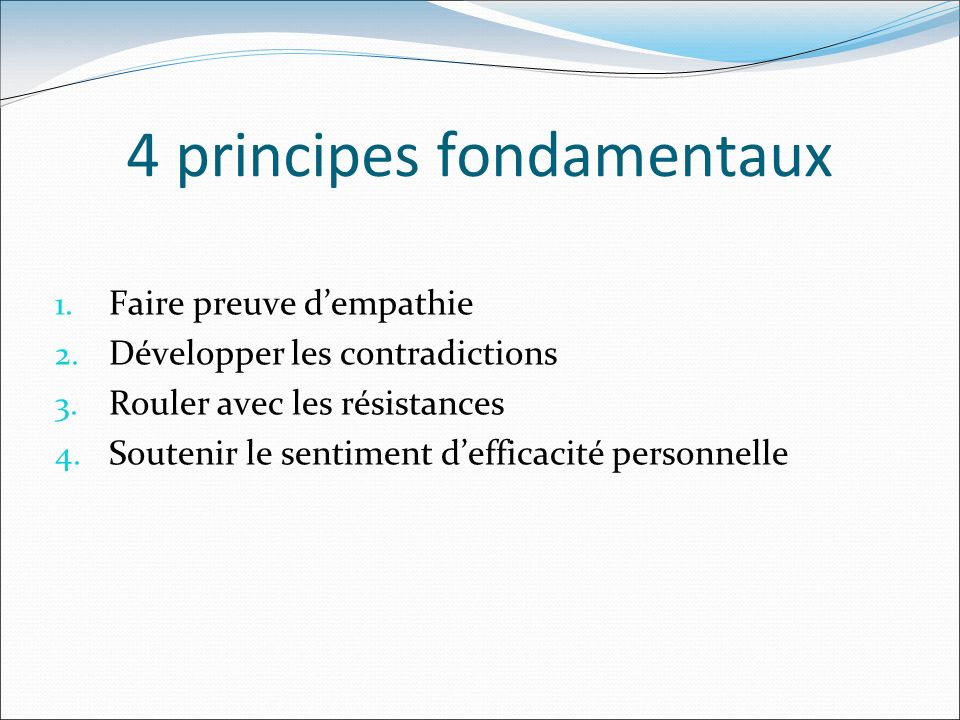 4 principes fondamentaux