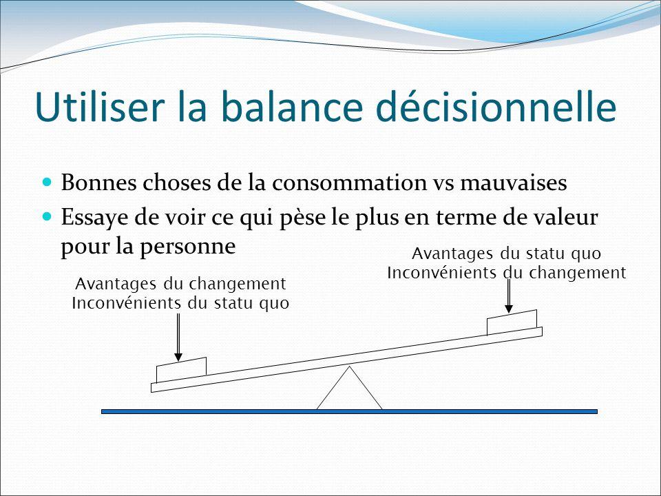 Utiliser la balance décisionnelle