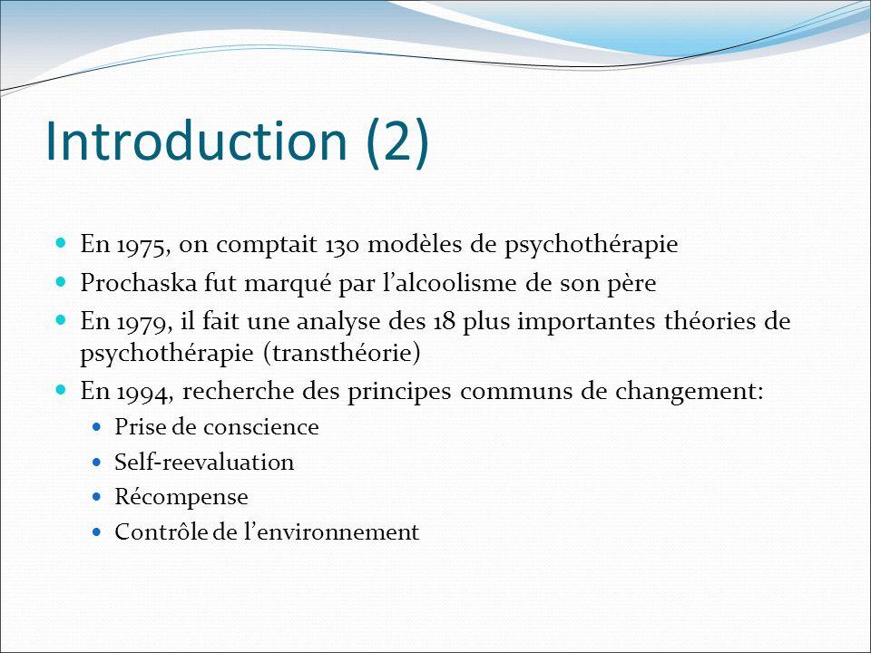 Introduction (2) En 1975, on comptait 130 modèles de psychothérapie