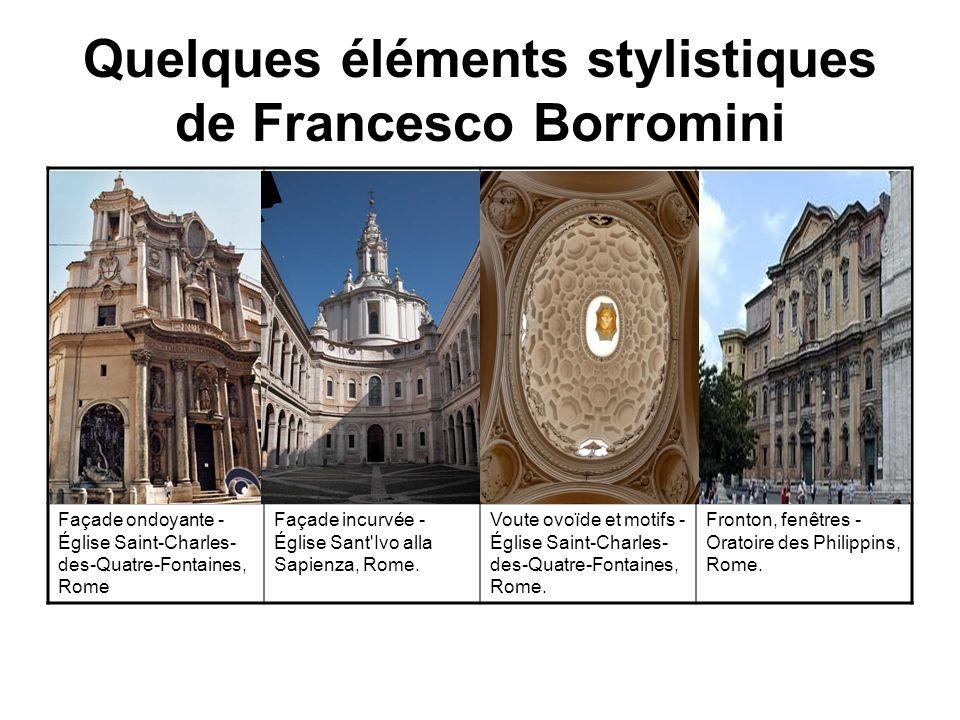 Quelques éléments stylistiques de Francesco Borromini
