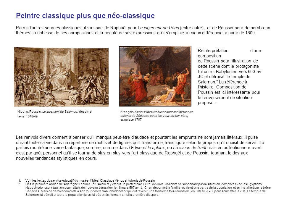 Peintre classique plus que néo-classique