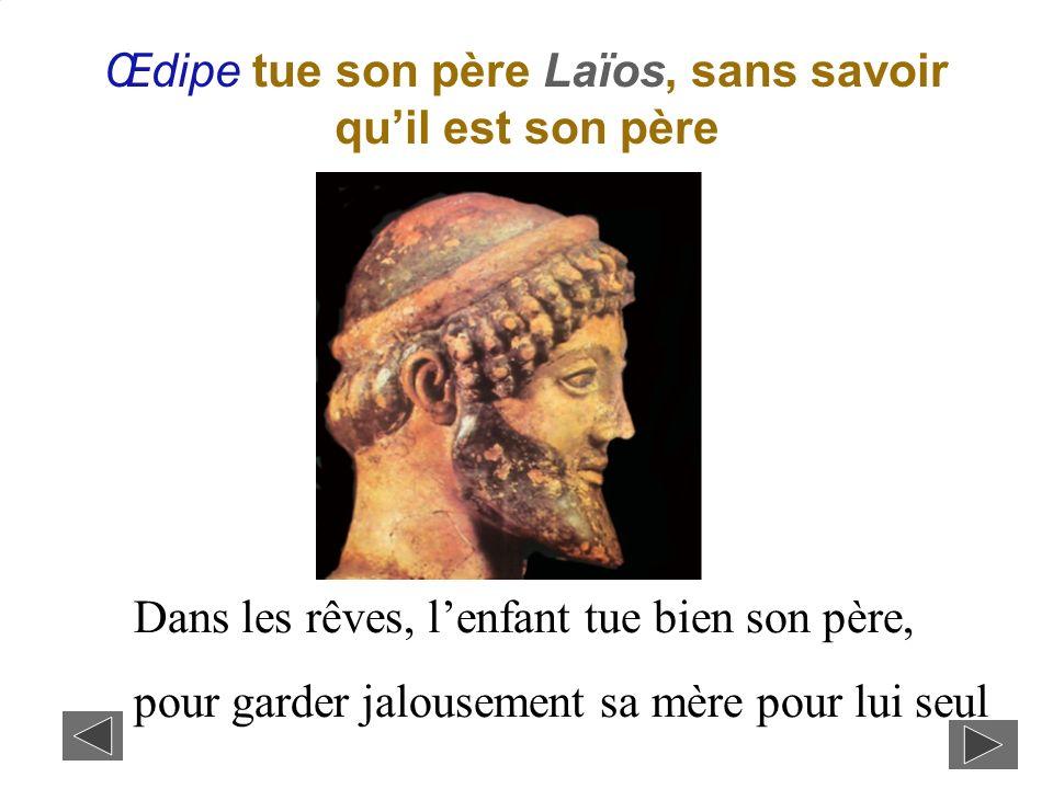 Œdipe tue son père Laïos, sans savoir qu'il est son père