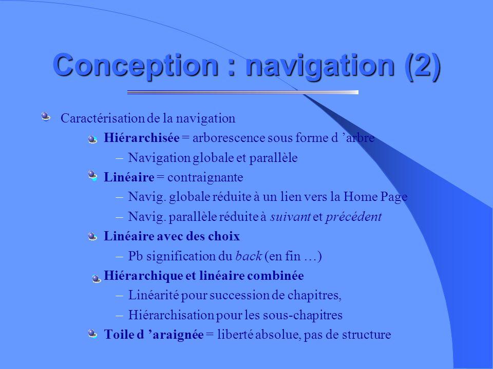 Conception : navigation (2)