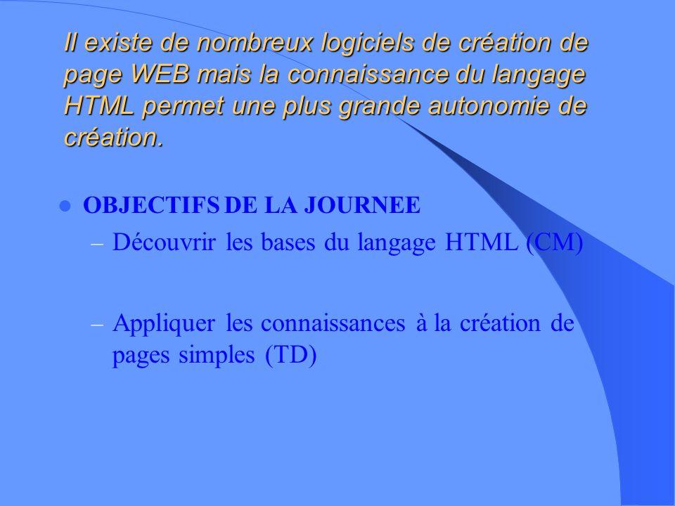 Découvrir les bases du langage HTML (CM)