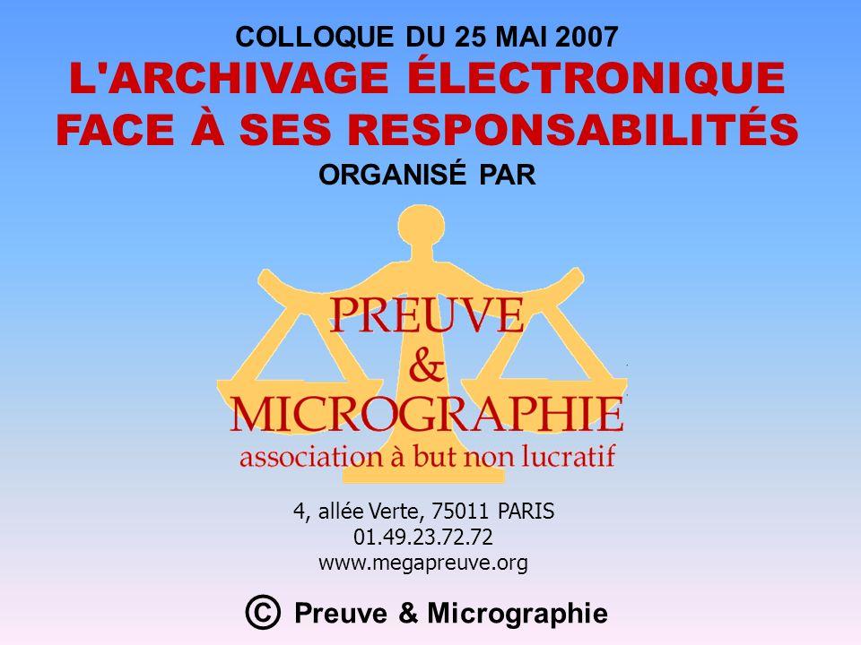 © Preuve & Micrographie