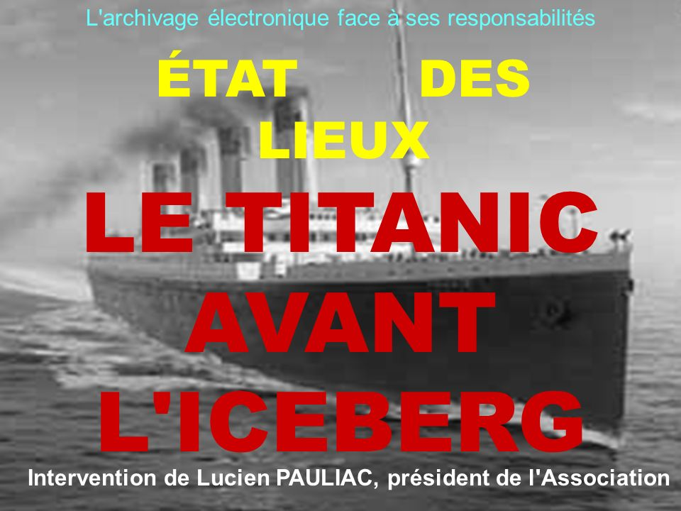 Intervention de Lucien PAULIAC, président de l Association