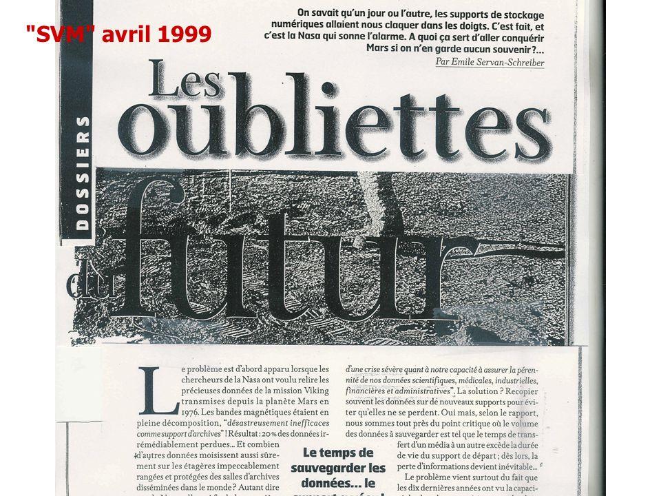 SVM avril 1999