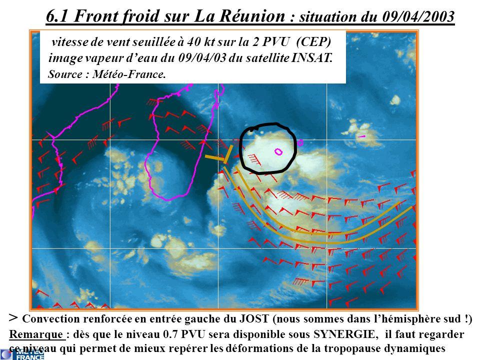 6.1 Front froid sur La Réunion : situation du 09/04/2003