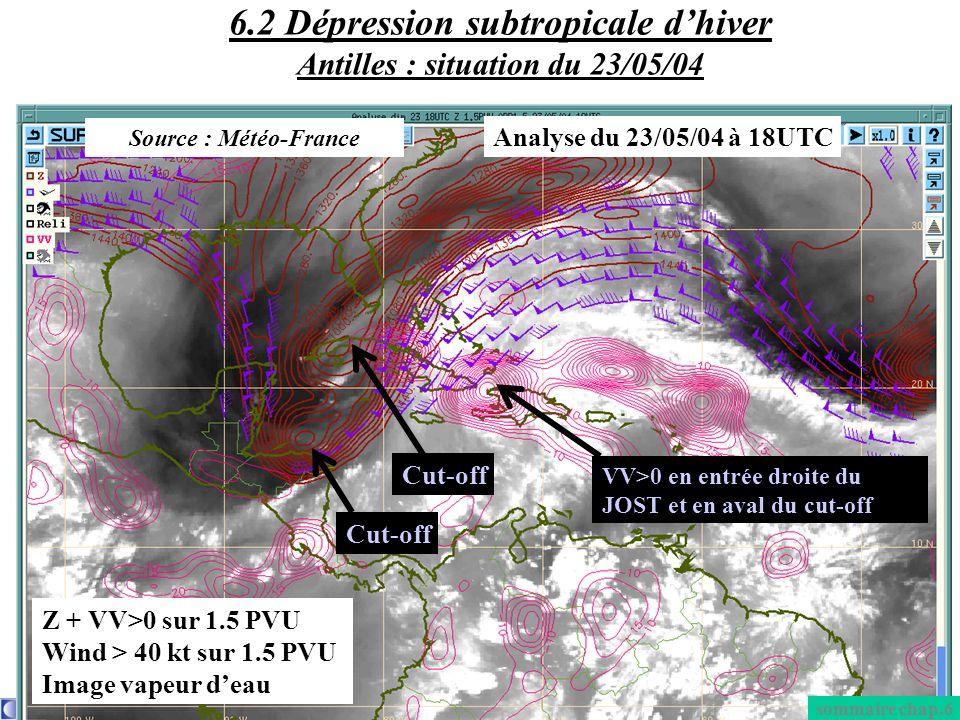 6.2 Dépression subtropicale d'hiver Antilles : situation du 23/05/04