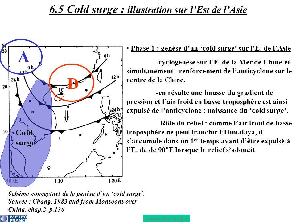 6.5 Cold surge : illustration sur l'Est de l'Asie