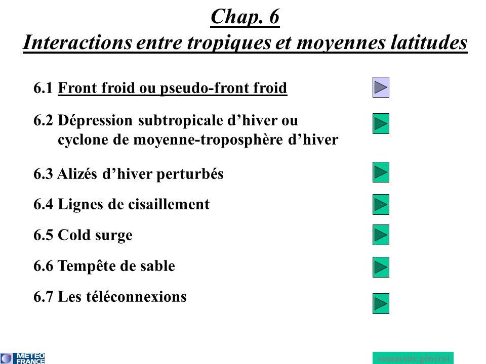 Chap. 6 Interactions entre tropiques et moyennes latitudes