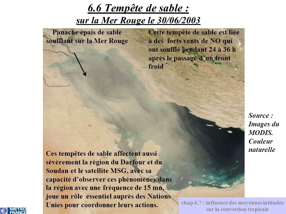 6.6 Tempête de sable : sur la Mer Rouge le 30/06/2003