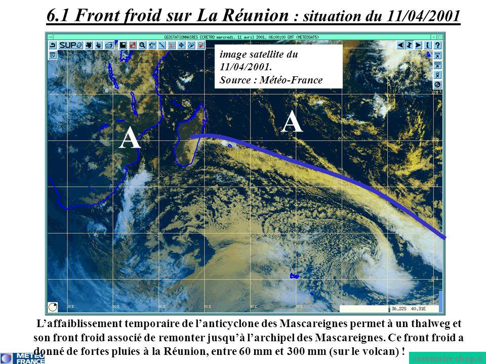 6.1 Front froid sur La Réunion : situation du 11/04/2001