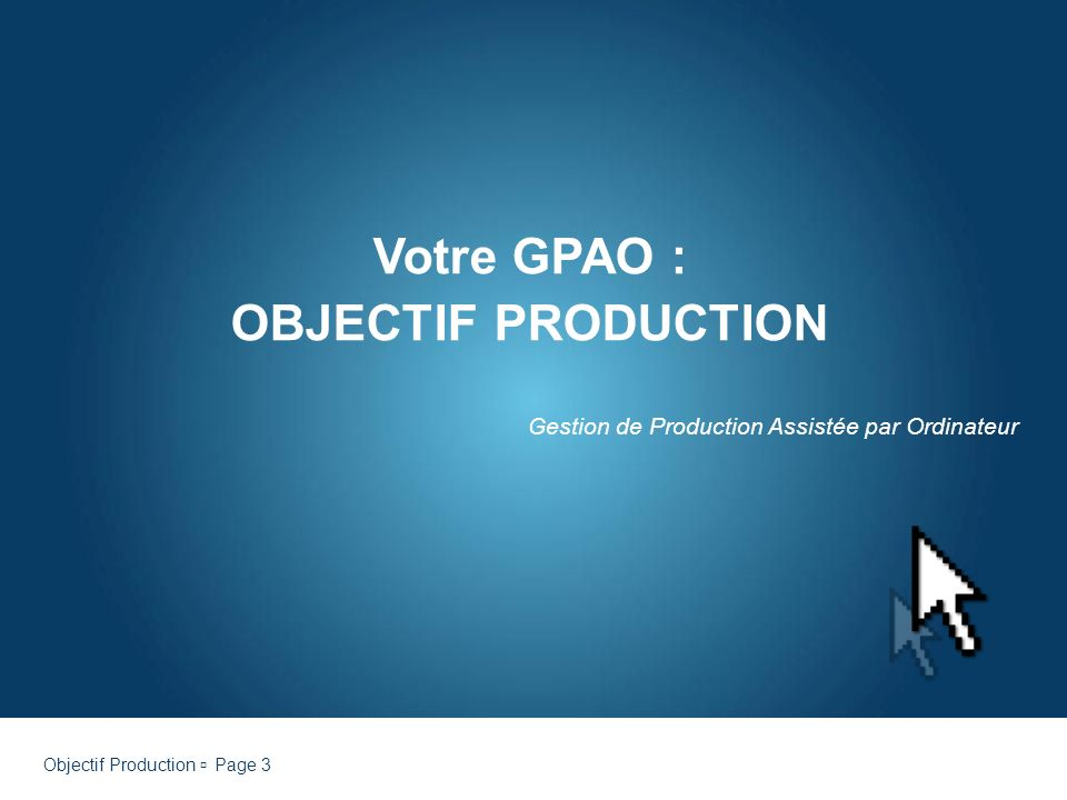 Gestion de Production Assistée par Ordinateur