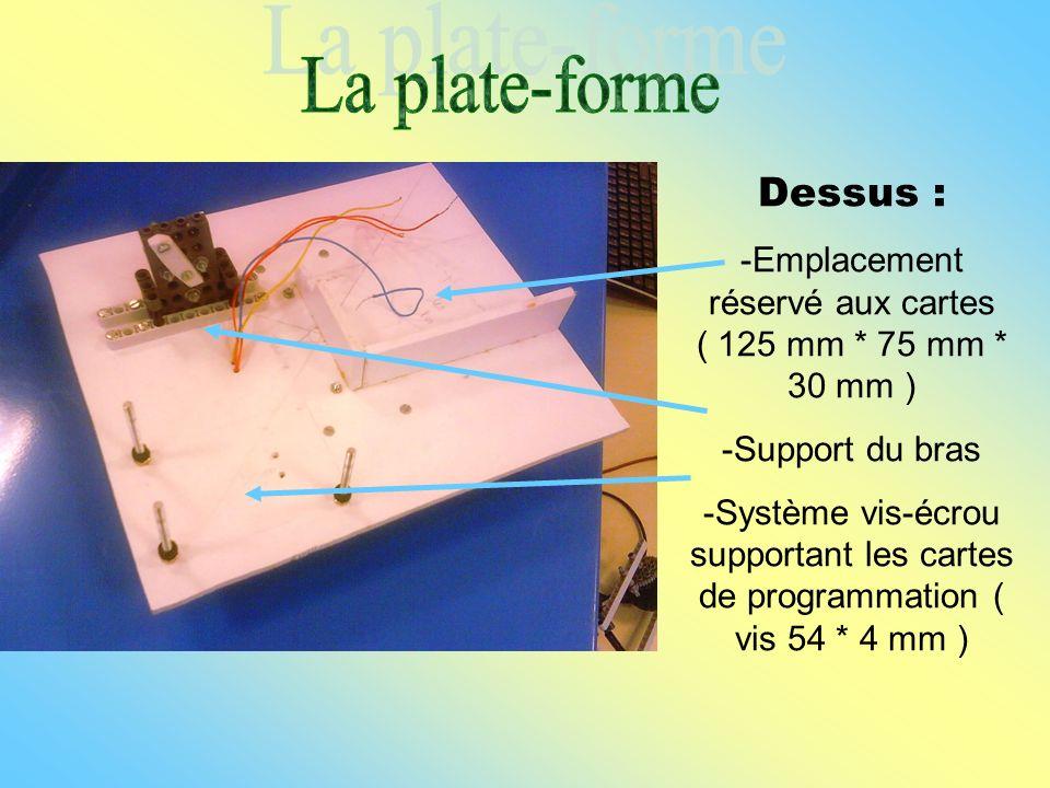 -Emplacement réservé aux cartes ( 125 mm * 75 mm * 30 mm )
