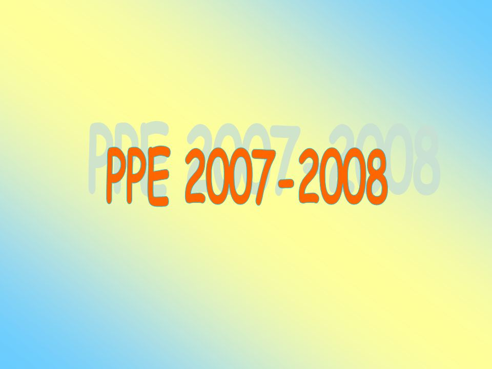 PPE 2007-2008