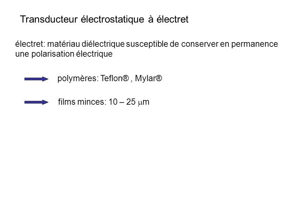 Transducteur électrostatique à électret