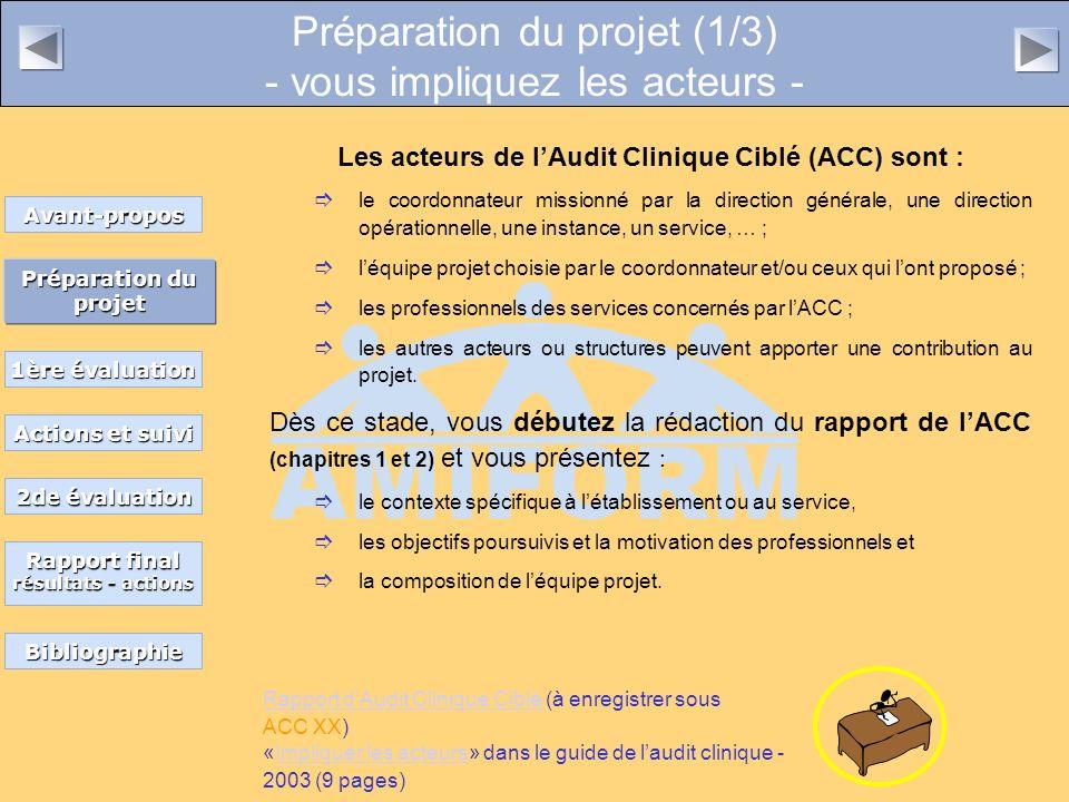 Préparation du projet (1/3) - vous impliquez les acteurs -
