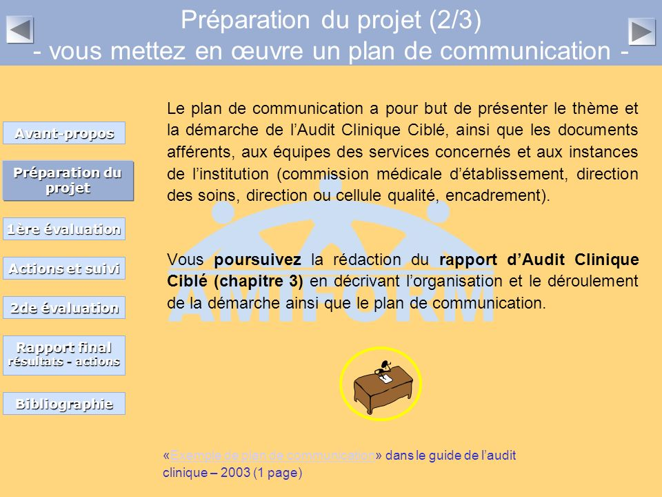 Préparation du projet (2/3) - vous mettez en œuvre un plan de communication -