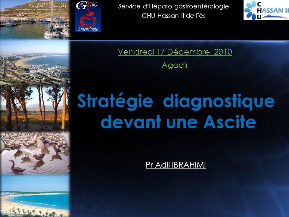 Stratégie diagnostique devant une Ascite