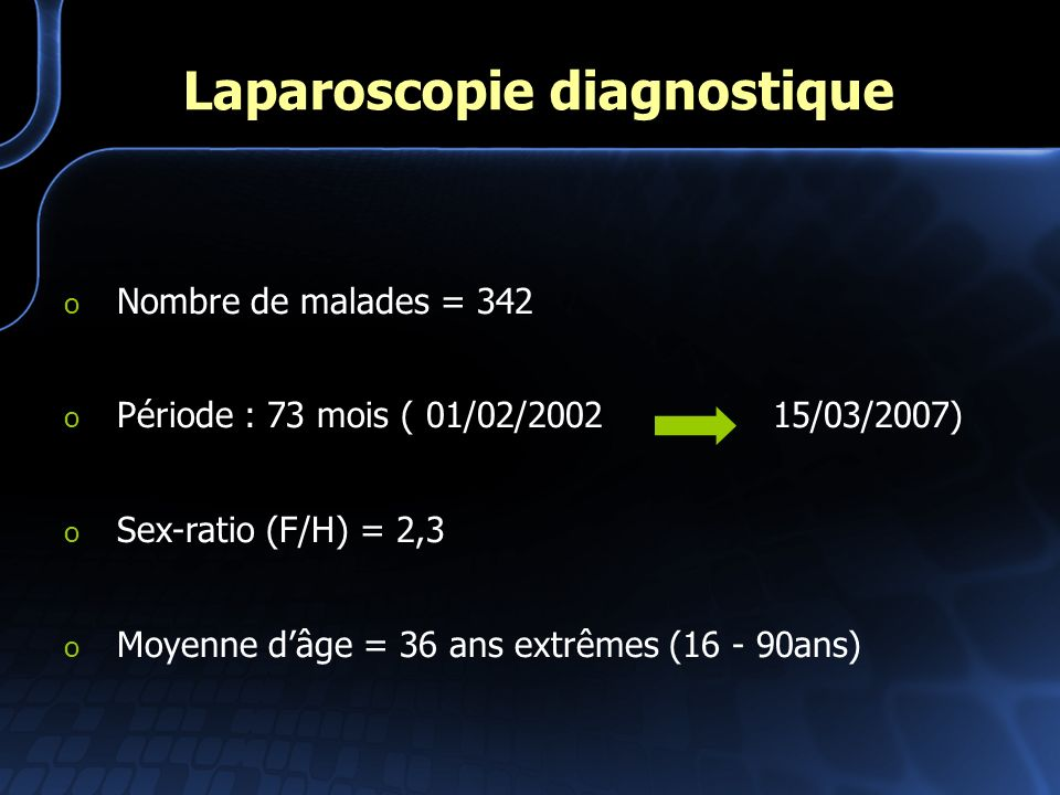 Laparoscopie diagnostique