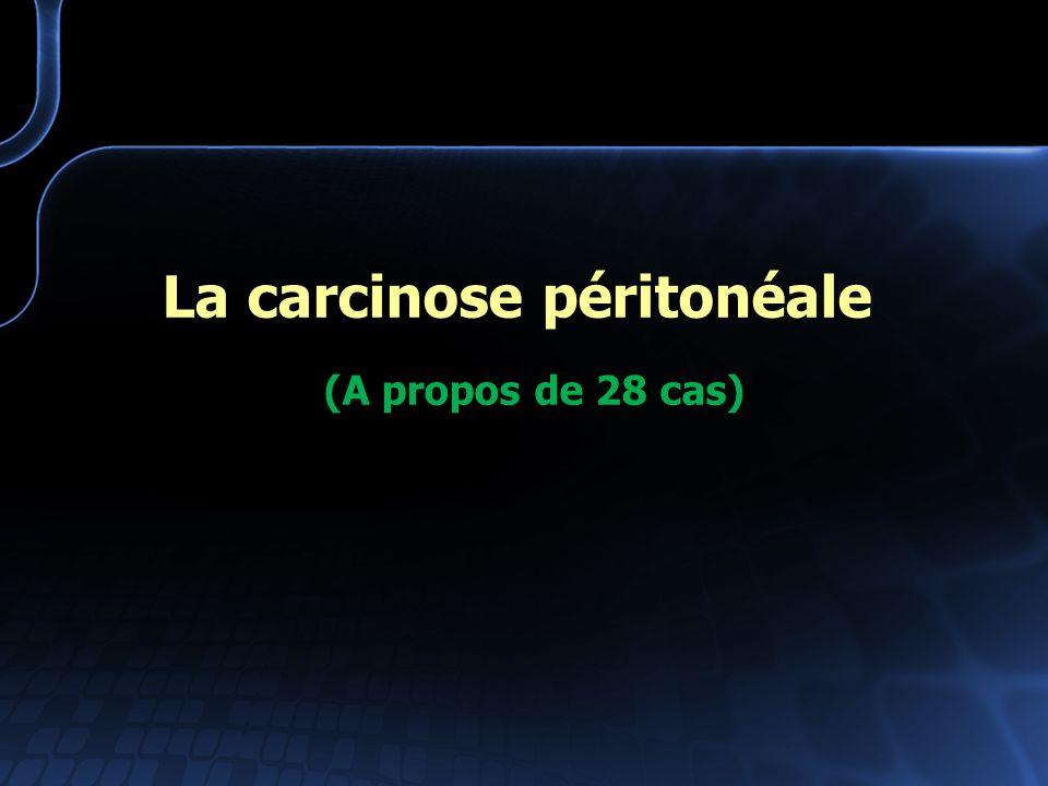 La carcinose péritonéale