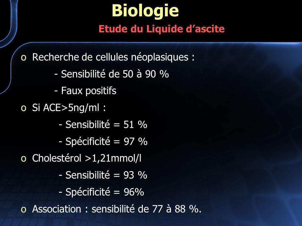 Biologie Etude du Liquide d'ascite