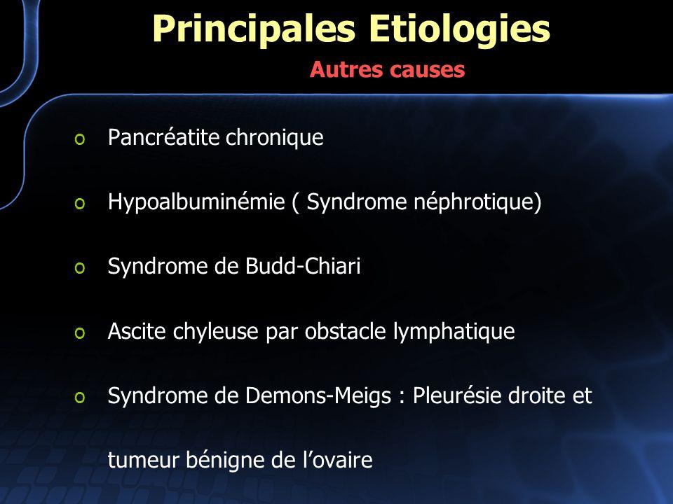 Principales Etiologies Autres causes