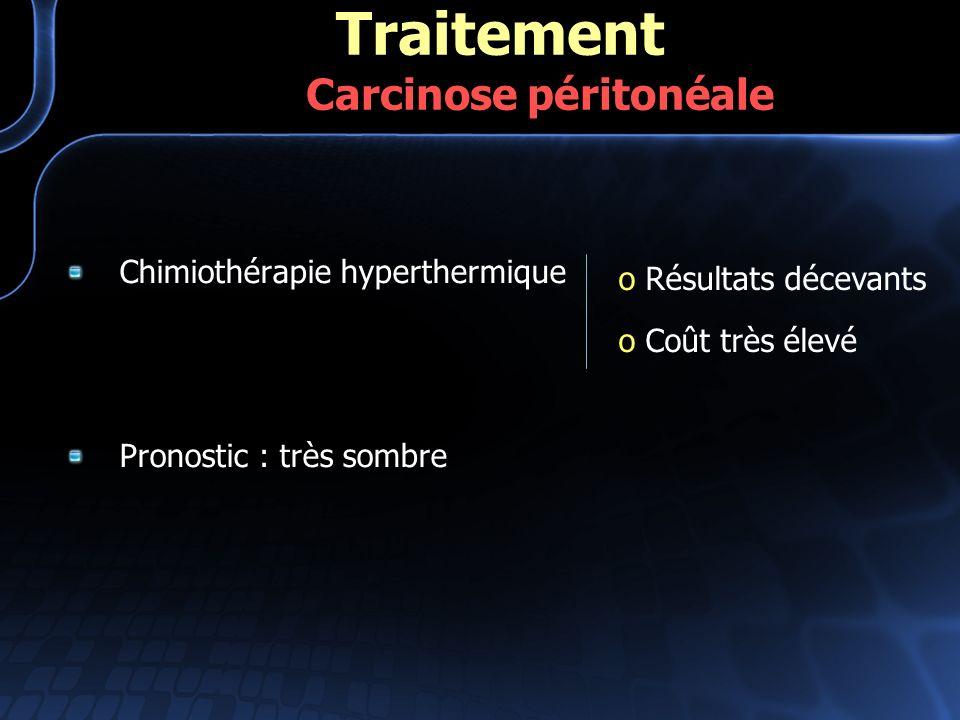 Traitement Carcinose péritonéale