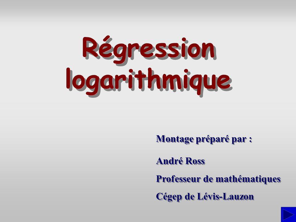 Régression logarithmique