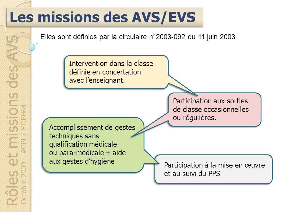Rôles et missions des AVS