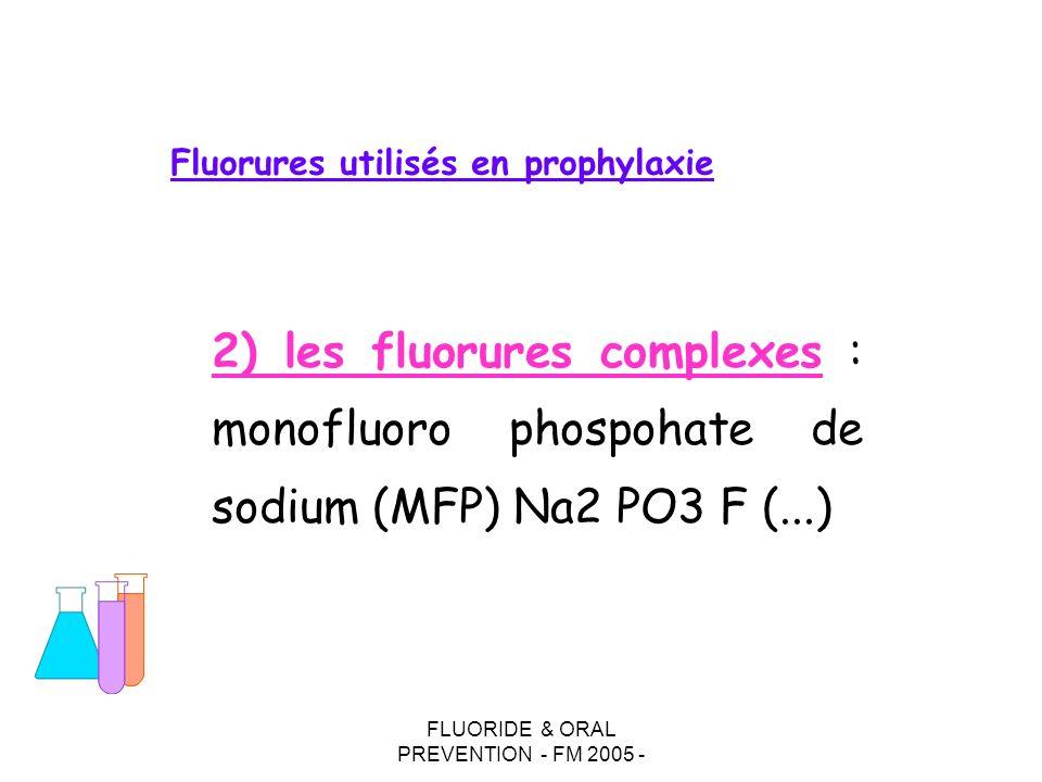 Fluorures utilisés en prophylaxie