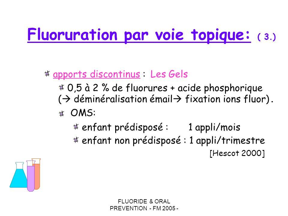 Fluoruration par voie topique: ( 3.)