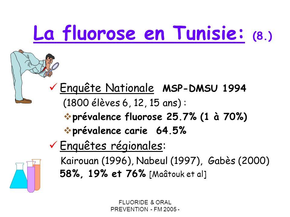 La fluorose en Tunisie: (8.)