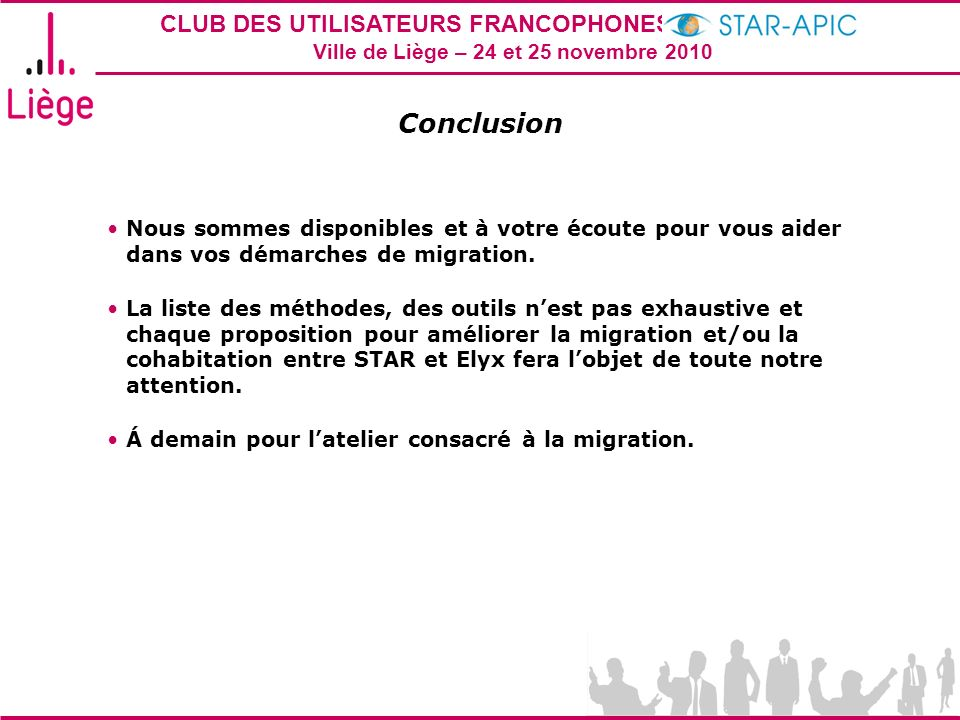Conclusion Nous sommes disponibles et à votre écoute pour vous aider dans vos démarches de migration.