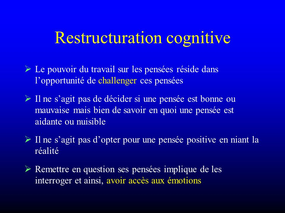 Restructuration cognitive