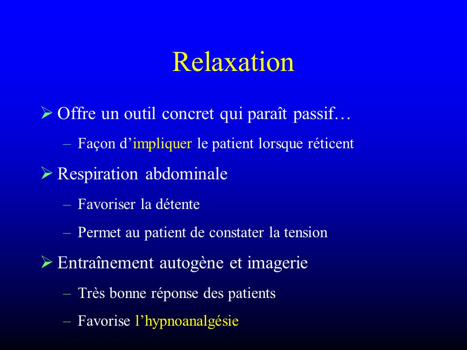 Relaxation Offre un outil concret qui paraît passif…