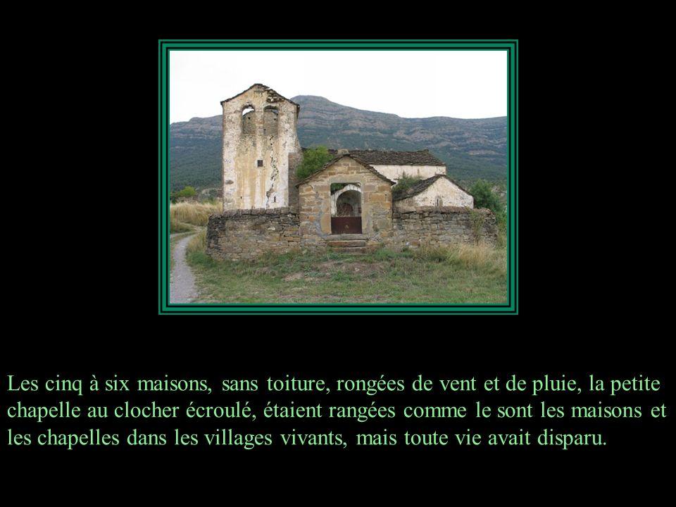 Les cinq à six maisons, sans toiture, rongées de vent et de pluie, la petite chapelle au clocher écroulé, étaient rangées comme le sont les maisons et les chapelles dans les villages vivants, mais toute vie avait disparu.